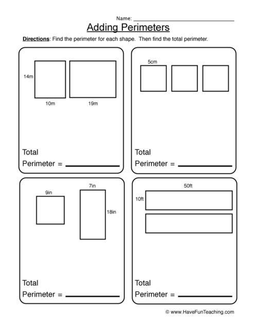 2nd Grade Perimeter Worksheets Perimeter Worksheets • Have Fun Teaching