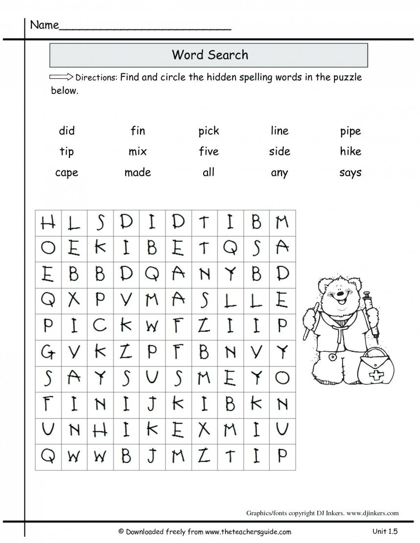 2nd Grade Spelling Worksheet 2nd Grade Spelling Worksheets for Educations 2nd Grade