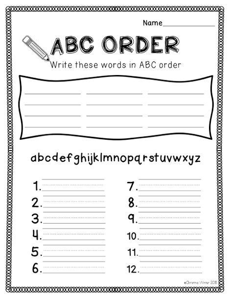 2nd Grade Spelling Worksheet Spelling Activities A Freebie Abc order Sheet