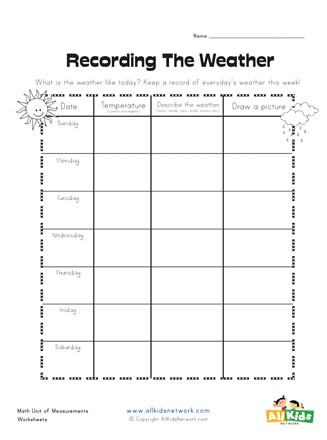 2nd Grade Weather Worksheets Weather Graphic organizer