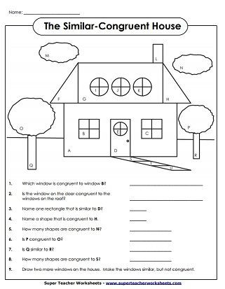3d Shapes Worksheets 2nd Grade Similar Figures Worksheet Geometry In 2020