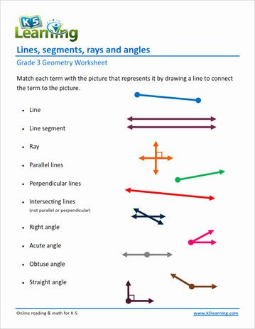 3rd Grade Geometry Worksheets 50 Lines and Angles Worksheet In 2020