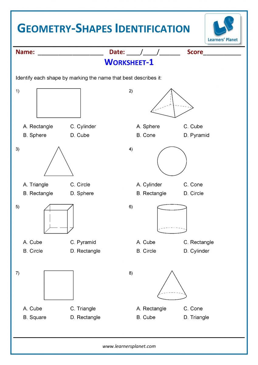 3rd Grade Geometry Worksheets Geometry Worksheets for 3rd Grade Students