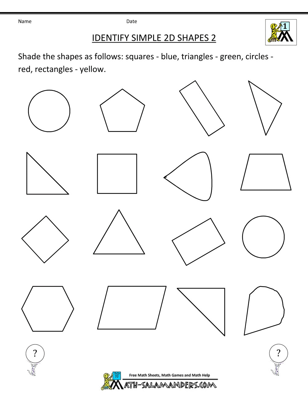 3rd Grade Geometry Worksheets Kindergarten In Handwriting Clipart Friendly Dotted Name