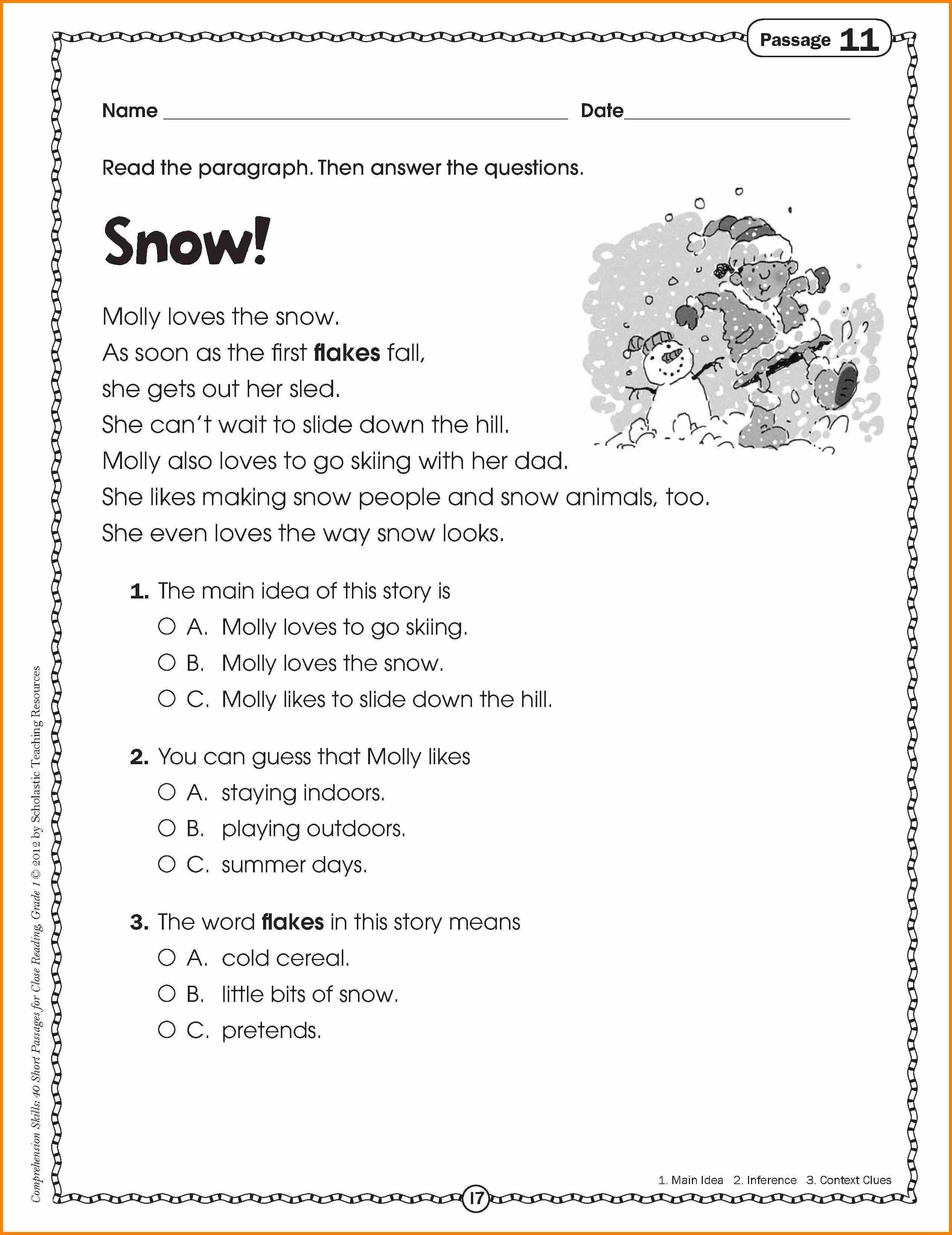 3rd Grade Main Idea Worksheets Main Idea Worksheets for 3rd Grade