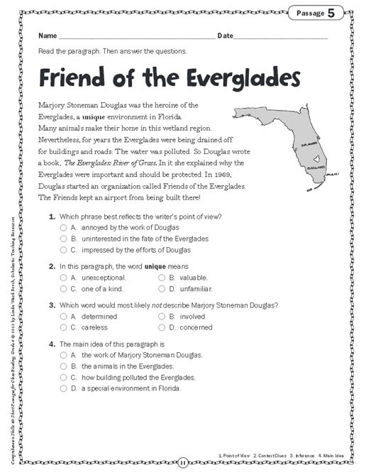 3rd Grade Main Idea Worksheets Pathbrite Media Detail