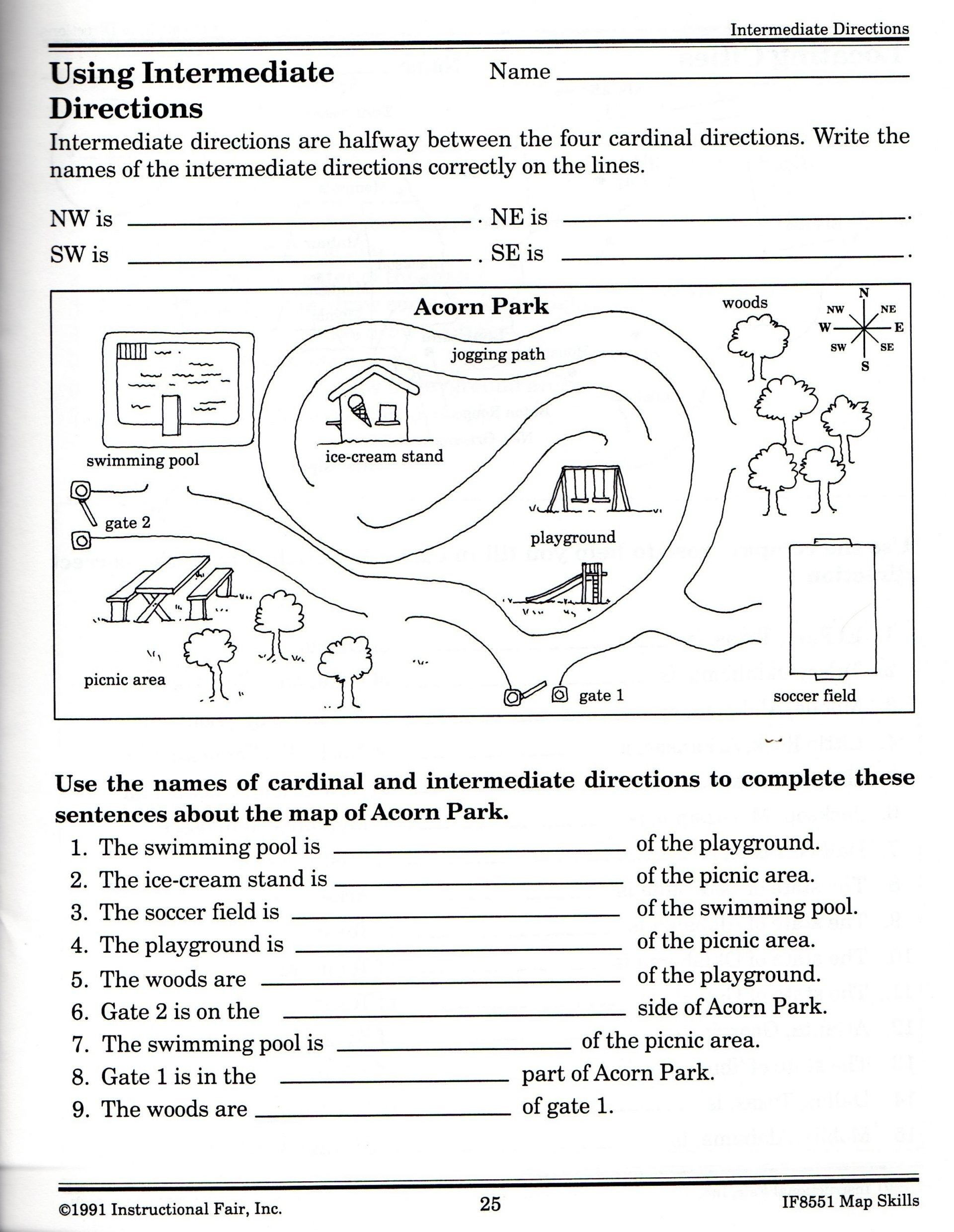 3rd Grade Map Skills Worksheets United States Map Worksheets 5th Grade Inspirationa Skills