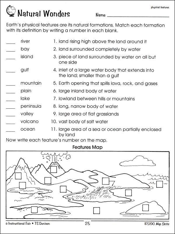 3rd Grade Map Skills Worksheets Worksheet Map Skills Worksheets 3rd Grade Free Map Skills