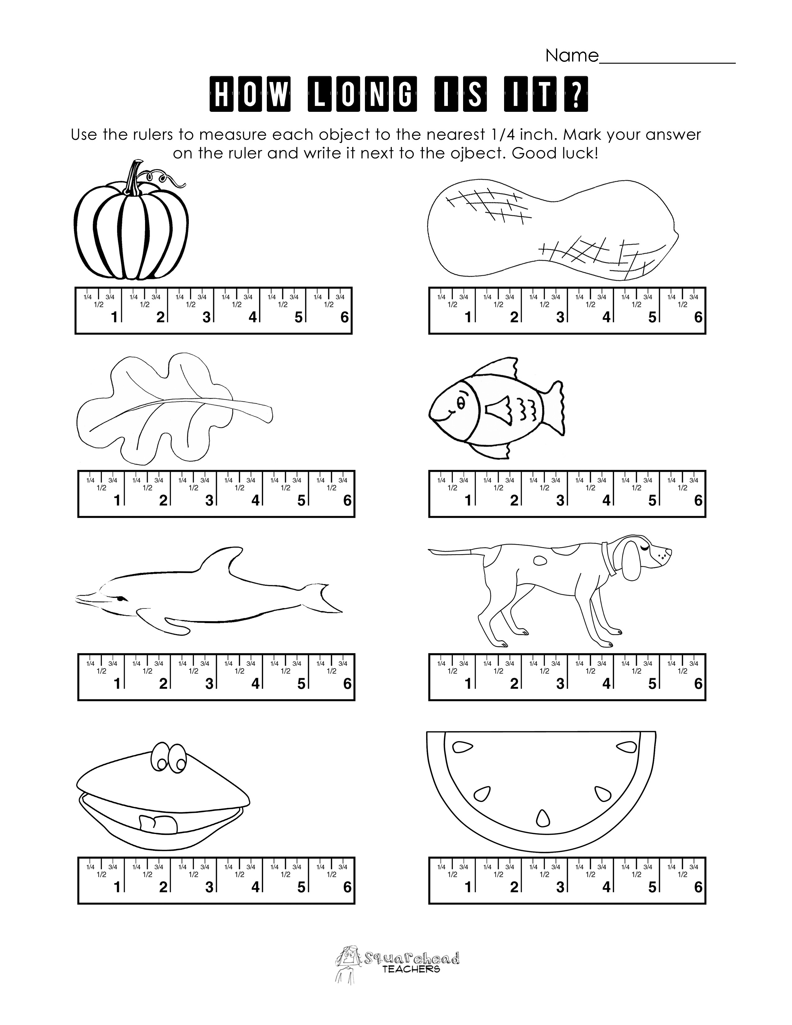 3rd Grade Measurement Worksheets Measurement Worksheet 1st Grade