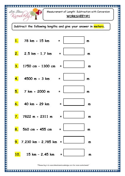 3rd Grade Measuring Worksheets 78 Worksheet Length Grade 3