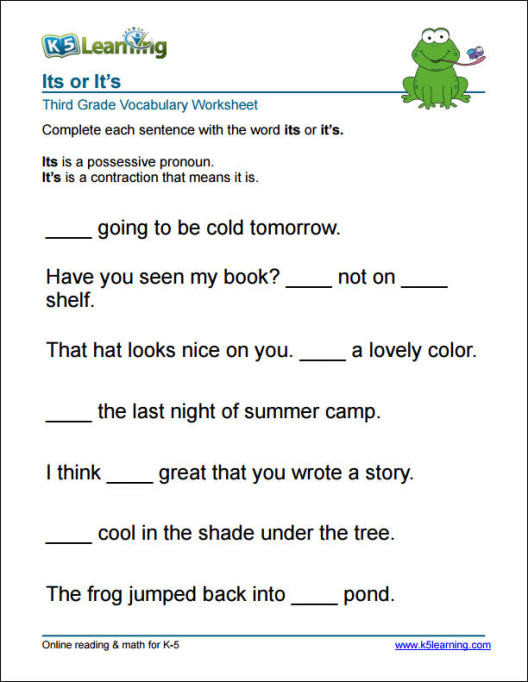 3rd Grade Vocabulary Worksheets Grade 3 Vocabulary Worksheets by K5 Learning