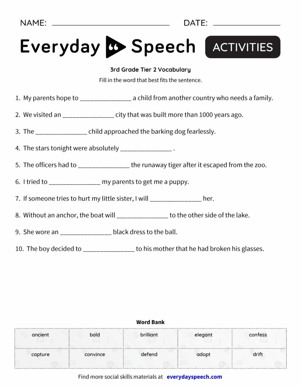 3rd Grade Vocabulary Worksheets Worksheet 3rd Grade Vocabulary Barka Fractions for Third