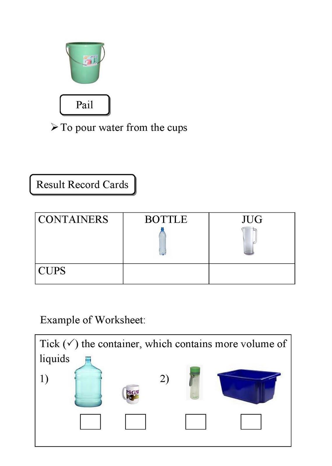 3rd Grade Volume Worksheets 1st Grade Measurement Worksheets