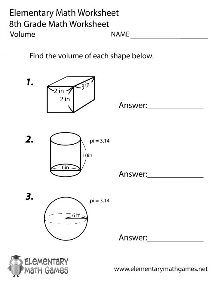 3rd Grade Volume Worksheets January 2020 Archives Binations 10 Worksheets