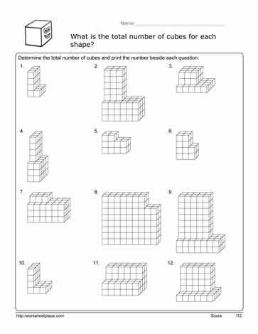 3rd Grade Volume Worksheets Volume Cube Worksheet Worksheets