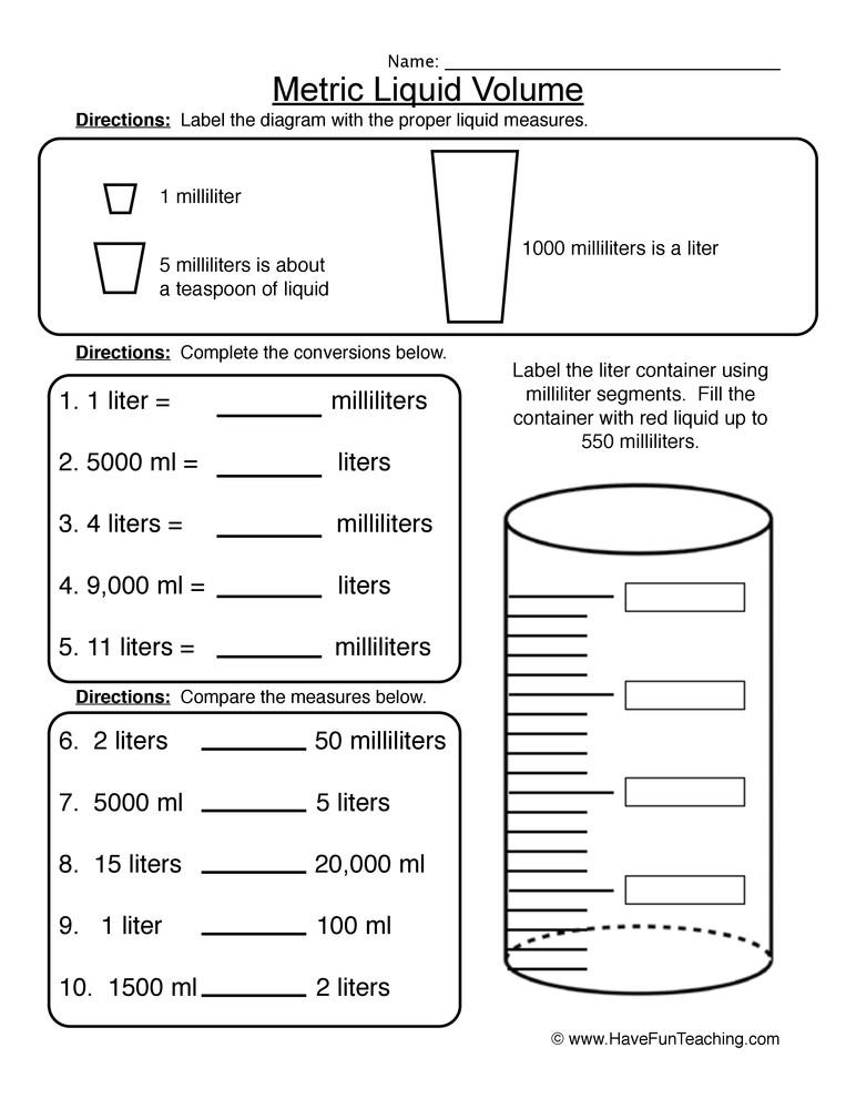 3rd Grade Volume Worksheets Volume Of 3d Shapes Worksheet
