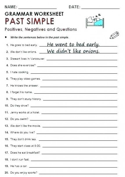 4th Grade Grammar Worksheets 9th Grade Grammar Worksheets