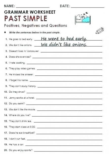 4th Grade Grammar Worksheets 9th Grade Grammar Worksheets