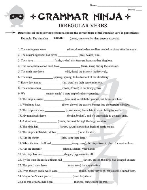 4th Grade Grammar Worksheets Free English Grammar Worksheets for 4th Grade 3