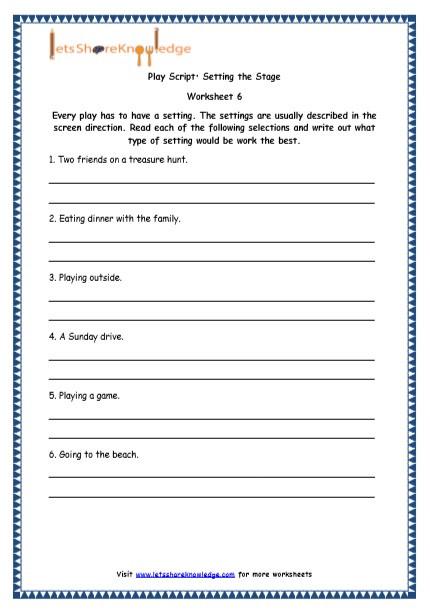 4th Grade Writing Worksheets Grade 4 English Resources Printable Worksheets topic Play