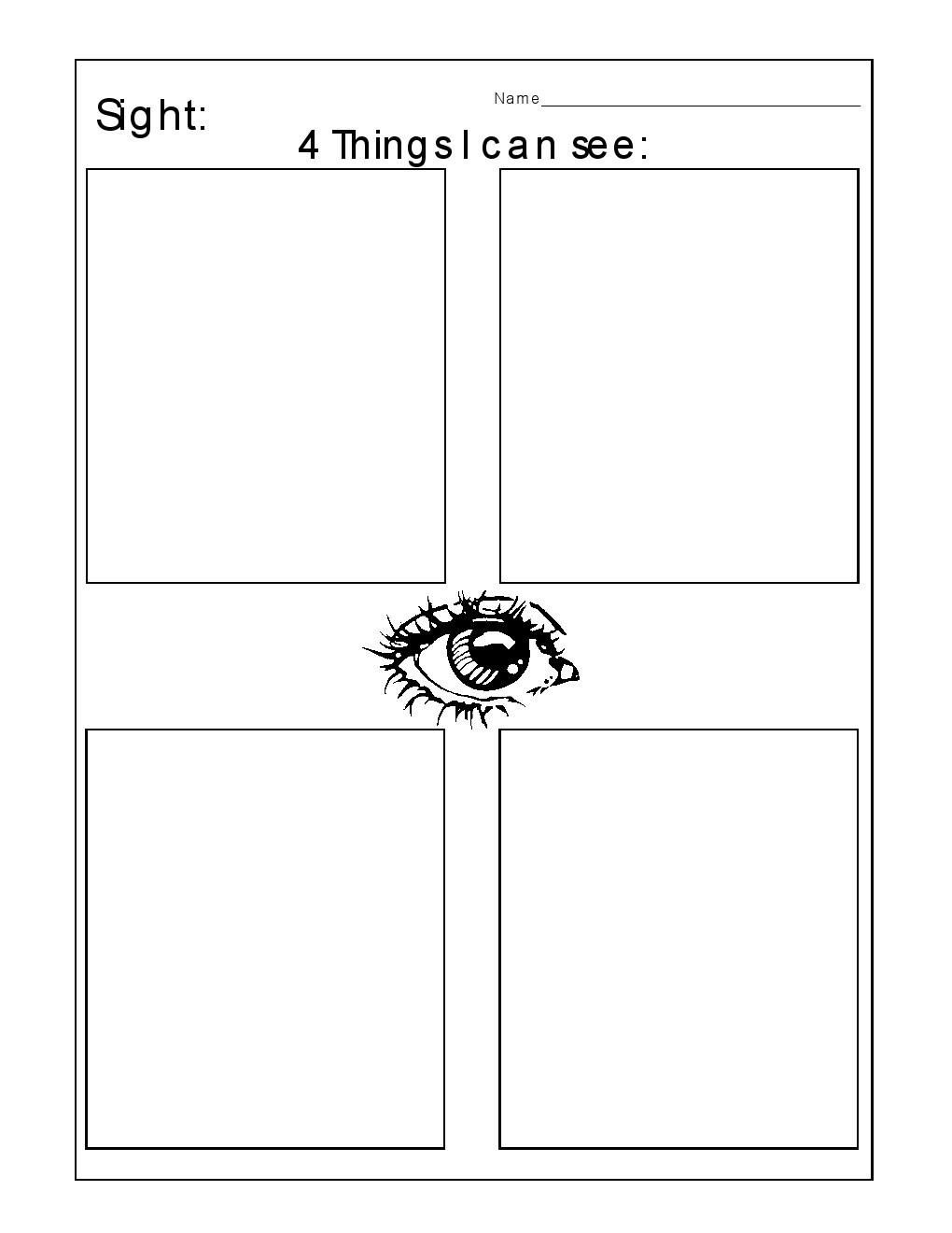 5 Senses Worksheets Preschool Kindergarten Worksheets Kindergarten Worksheets the 5