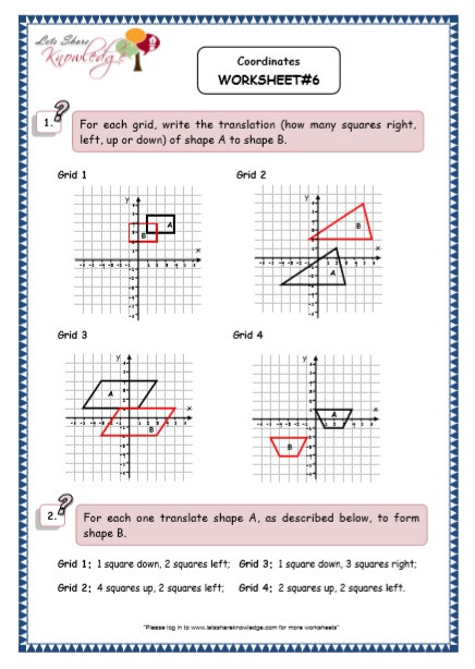 5th Grade Coordinate Grid Worksheets Grade 5 Maths Resources Coordinates Printable Worksheets