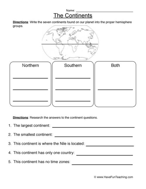 5th Grade Geography Worksheets Geography Worksheets • Have Fun Teaching