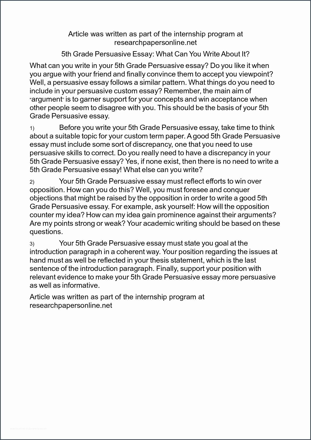 6th Grade Essay Writing Worksheets Essay Example 5th Grade Persuasive topics Nicepost 4th