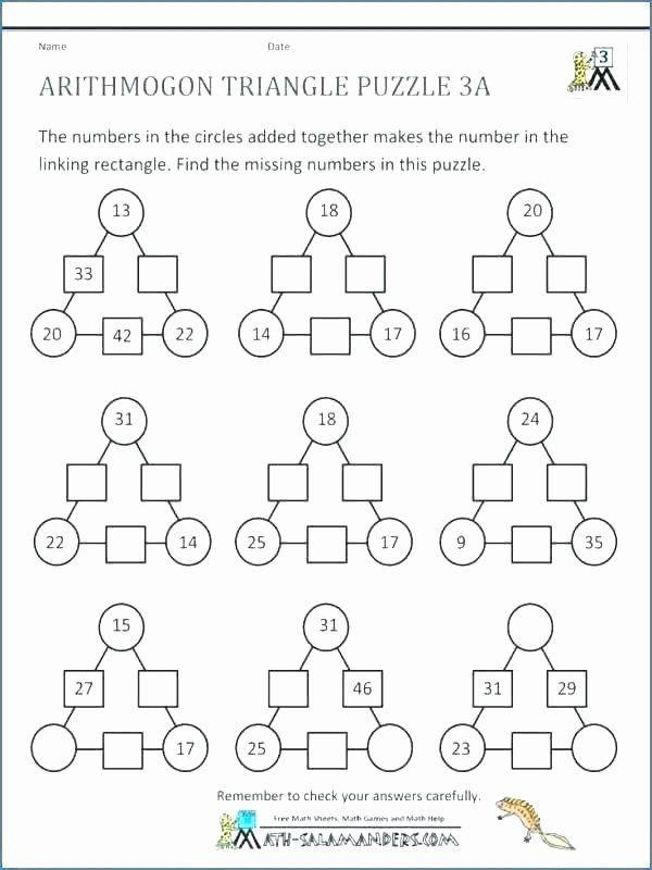 6th Grade Math Puzzle Worksheets 6th Grade Math Puzzles Printable Math Puzzle Worksheets In