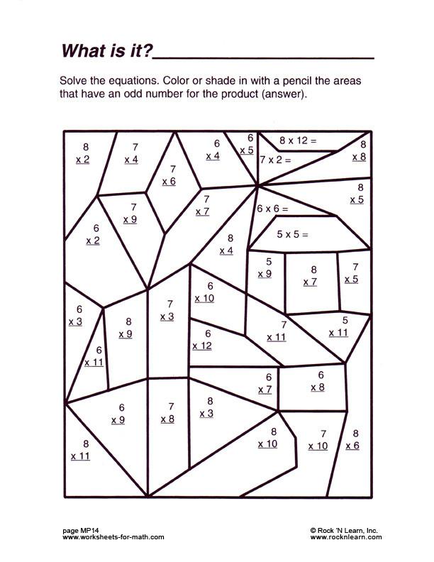 6th Grade Math Puzzle Worksheets Fun Math Worksheets & Worksheet Math Sheets Math Worksheets