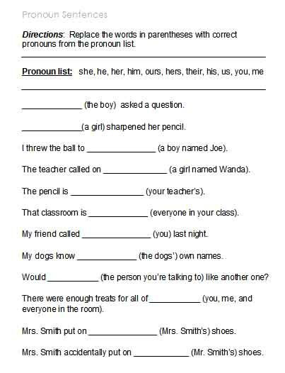 6th Grade Pronoun Worksheets Free Possessive Pronoun Worksheets 1
