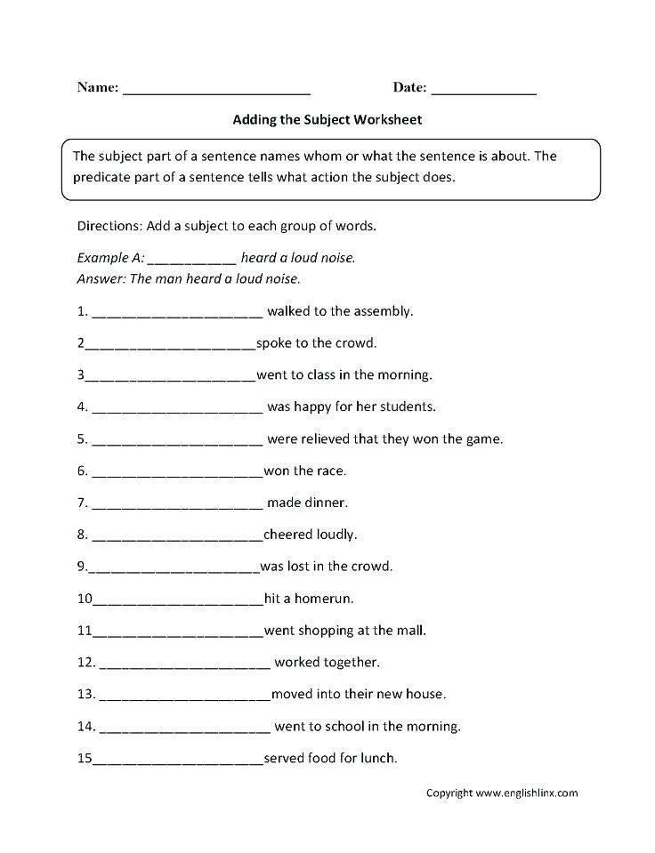 6th Grade Sentence Structure Worksheets Free Sentence Structure Worksheets Pound Sentence Free