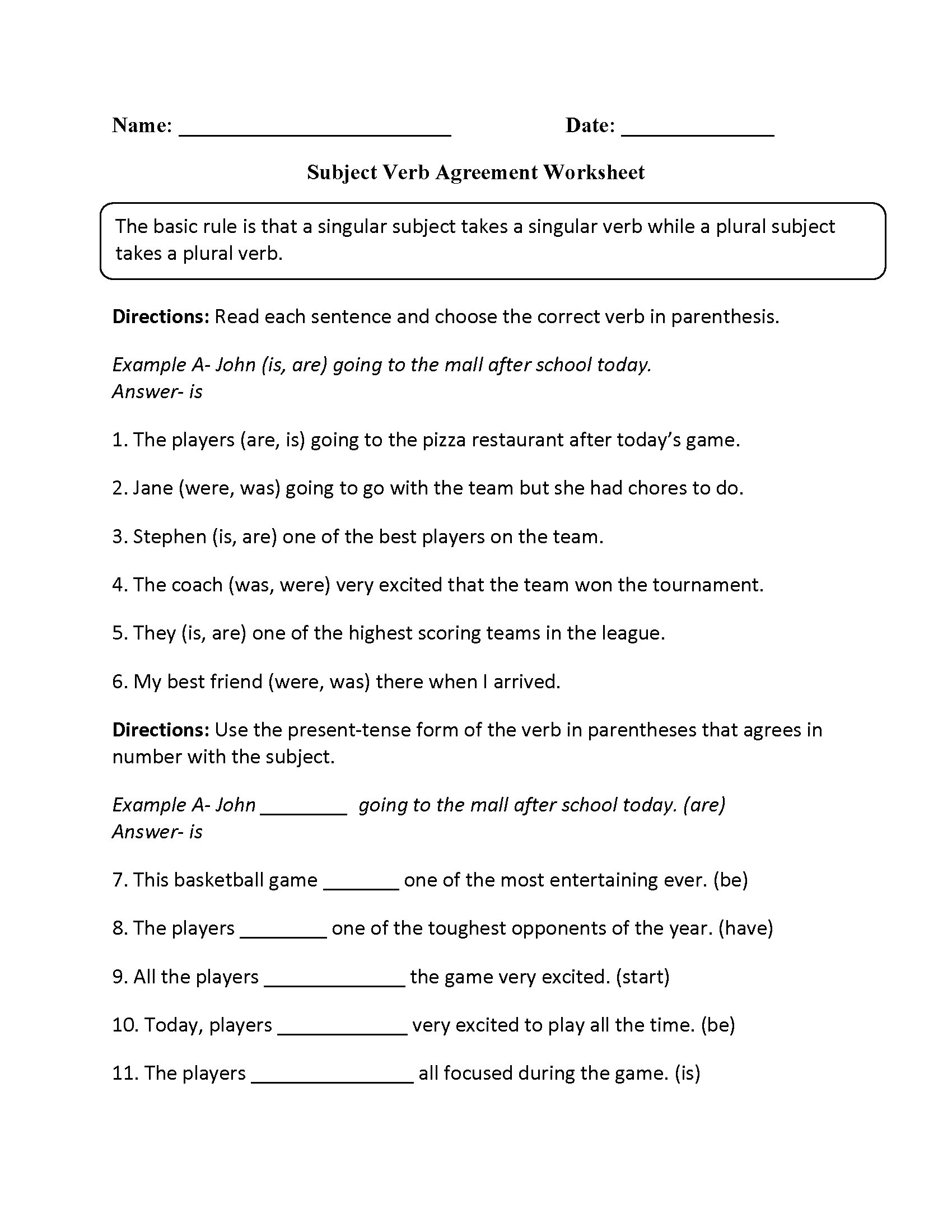 7th Grade Grammar Worksheets Grammar Worksheet Grade 11