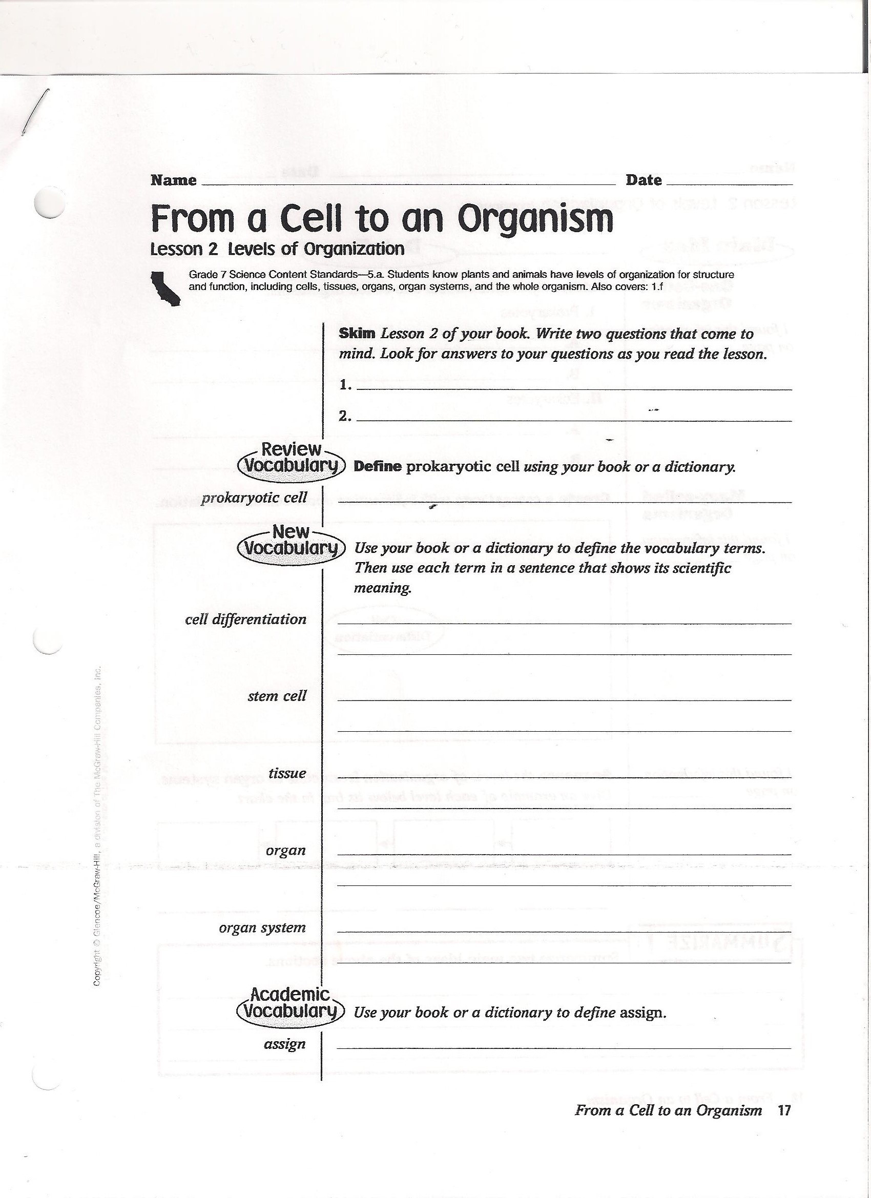 7th Grade Life Science Worksheets Unique What is Life Science Worksheet