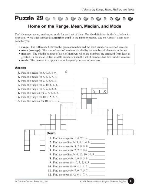 7th Grade Math Enrichment Worksheets Mean Median Mode