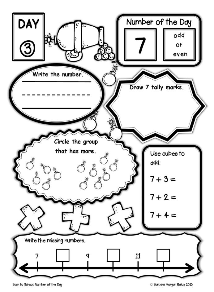 7th Grade Math Enrichment Worksheets Number the First Grade Back to School Math Pirate Third