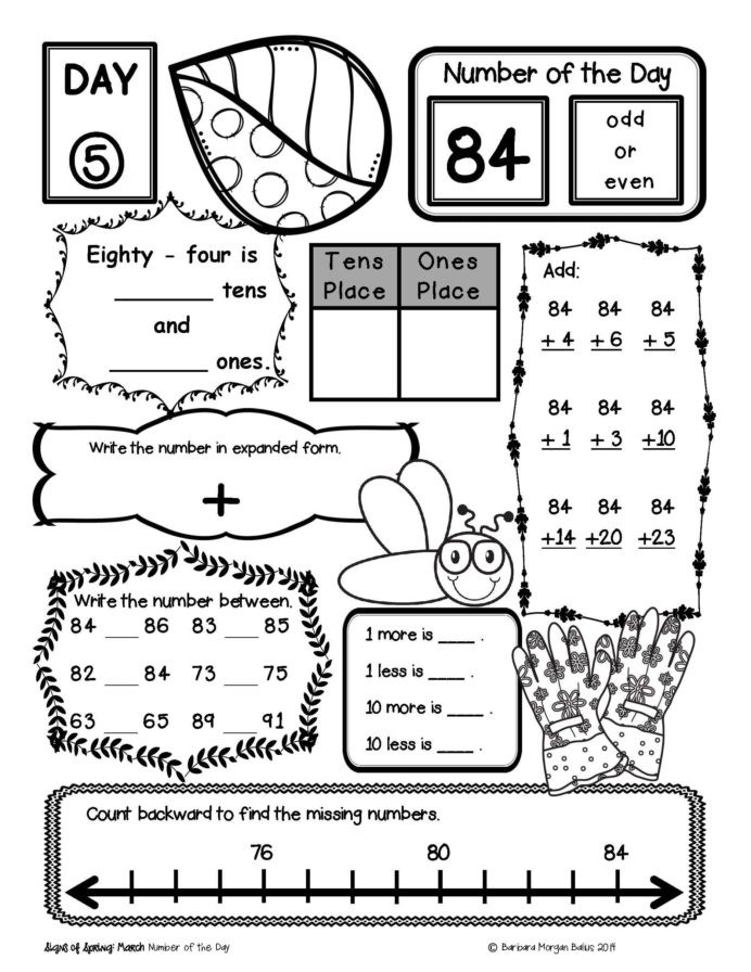 7th Grade Math Enrichment Worksheets Place Value Number Sense Practice the Morning Work Third