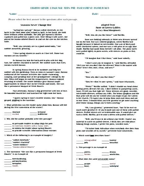 8th Grade English Worksheets December 2018 – Timothyfregosoub