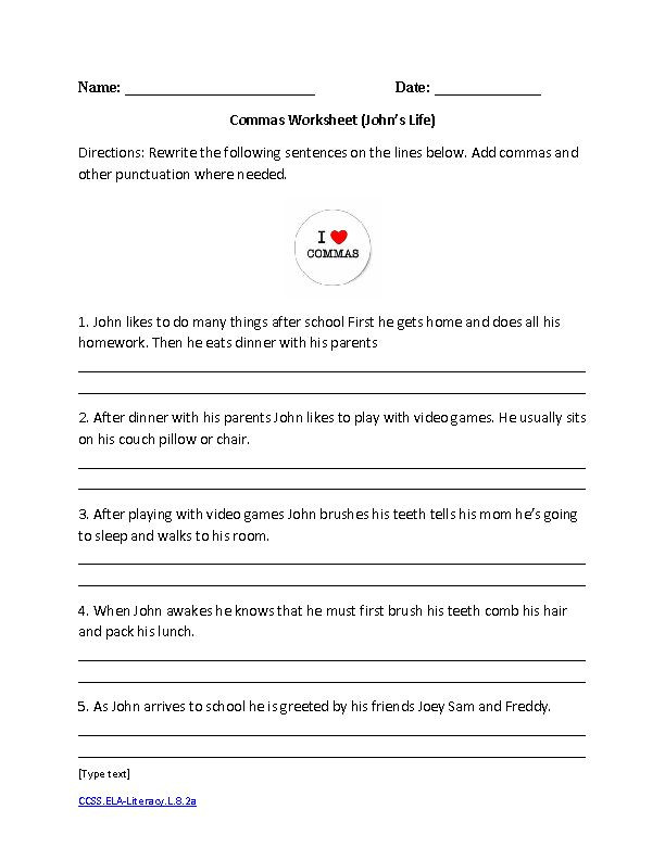 8th Grade English Worksheets Pin On Grade Worksheets