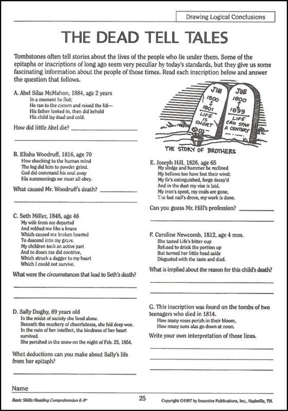 8th Grade Reading Worksheets 8th Grade Reading Strategies
