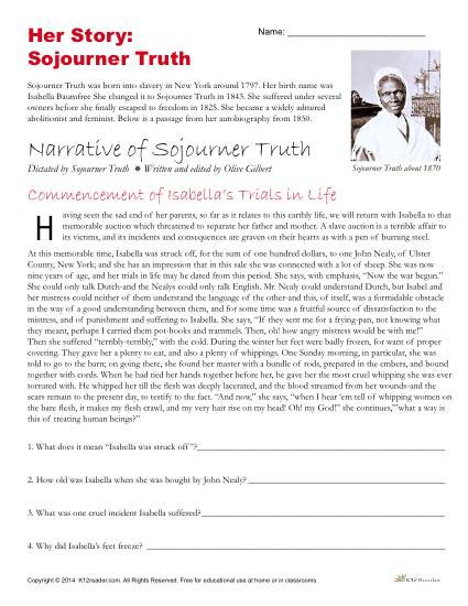 8th Grade Reading Worksheets African American History Month Activities