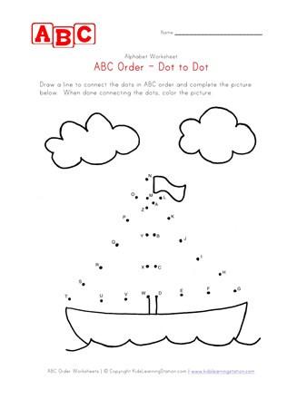 Abc Dot to Dot Printable Abc Dot to Dot Boat