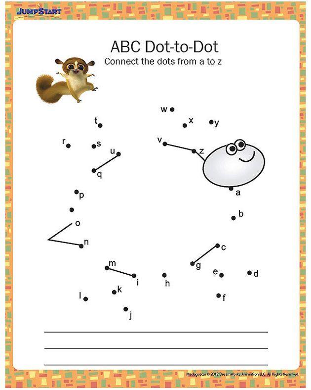 Abc Dot to Dot Printable Abc Dot to Dot Printable Kindergarten Worksheet