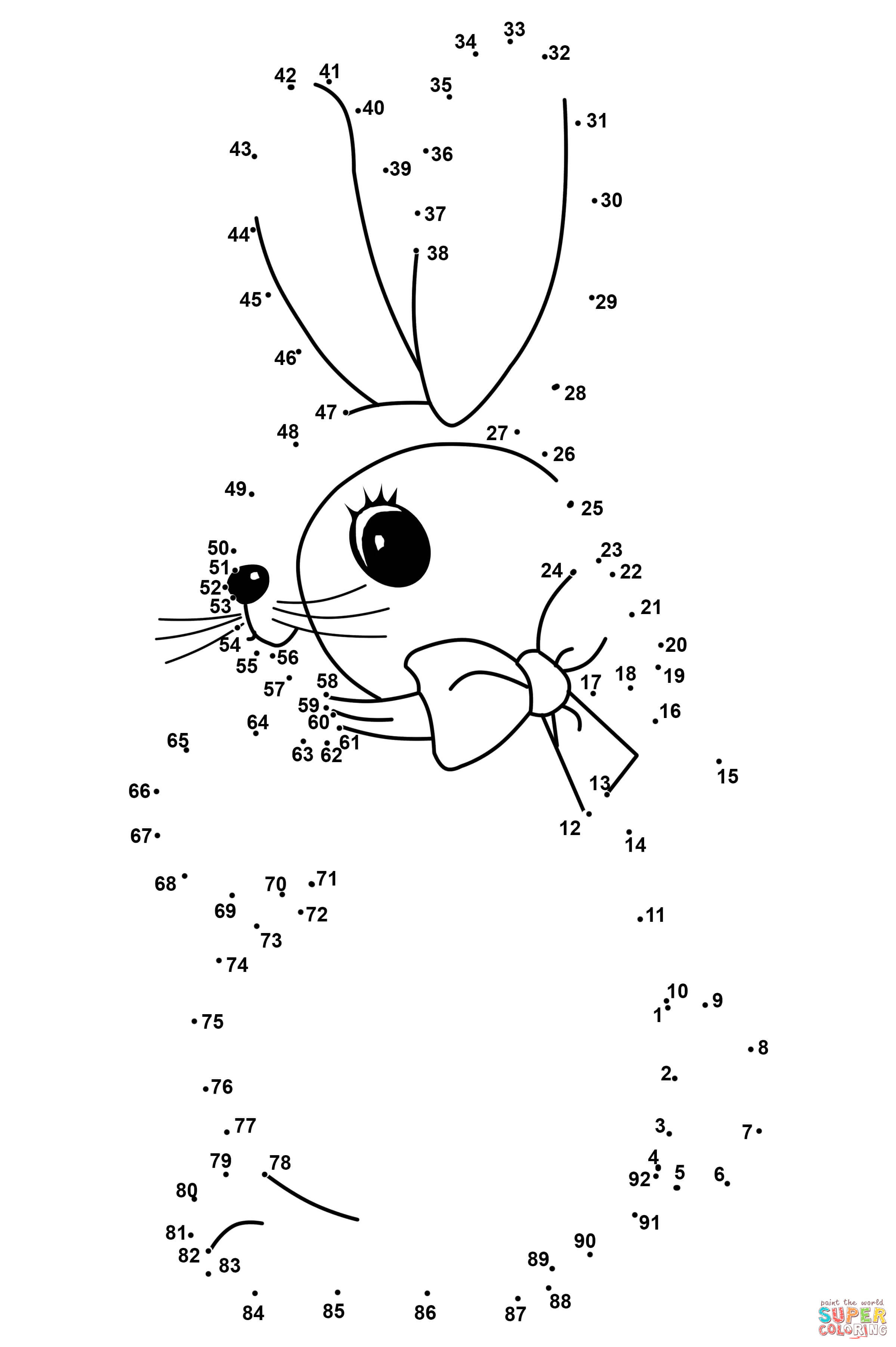 Abc Dot to Dot Printable Easter Rabbit Dot to Dot