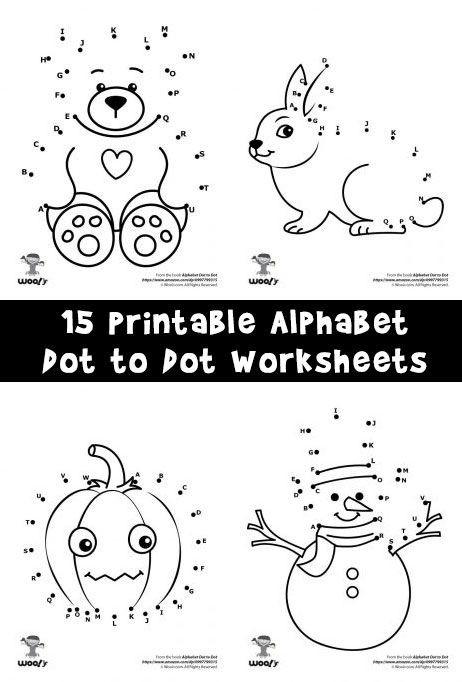 Abc Dot to Dot Printable Printable Alphabet Dot to Dot Worksheets
