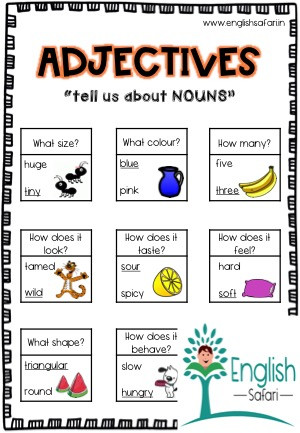 Adjectives Worksheets for Grade 1 Describing Words Anchor Chart