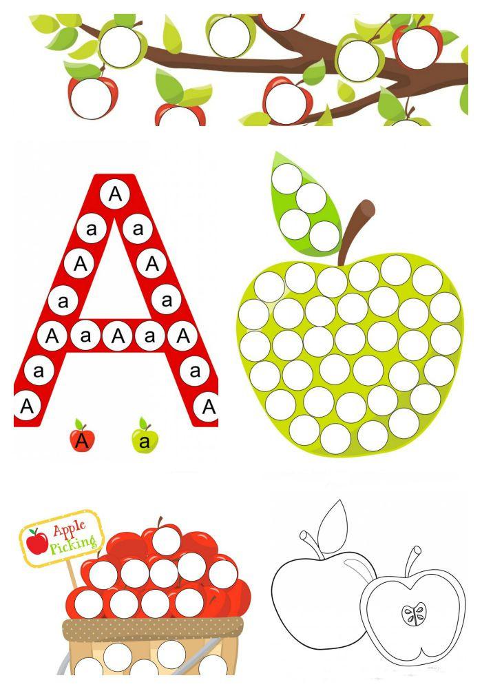 Apple Worksheets Preschool A is for Apple Preschool Worksheets