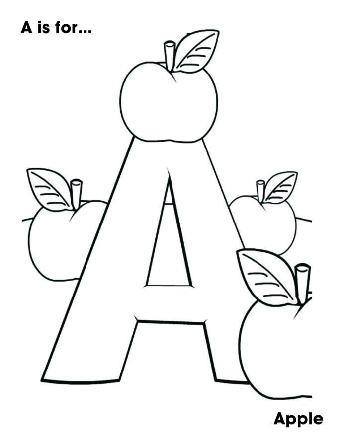 Apple Worksheets Preschool Letter the Week for My Year Old Preschool Coloring Apple