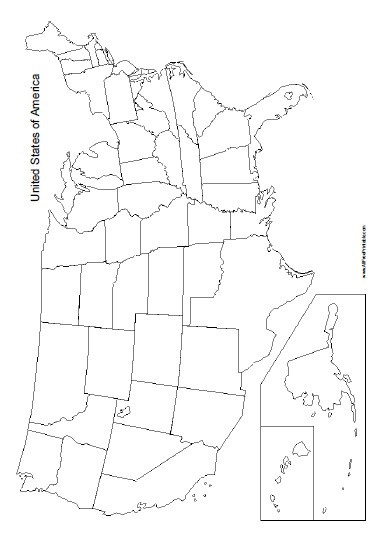 Blank Us Map Quiz Printable Blank United States Map Free Printable Allfreeprintable