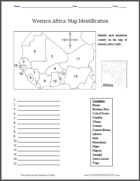 Blank Us Map Quiz Printable Western States Blank Map Quiz Western Africa Map
